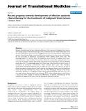 "báo cáo hóa học:"" Recent progress towards development of effective systemic chemotherapy for the treatment of malignant brain tumors"""