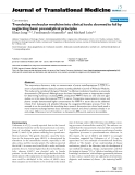 """báo cáo hóa học:"""" Translating molecular medicine into clinical tools: doomed to fail by neglecting basic preanalytical principles"""""""