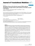 "báo cáo hóa học:"" Activation of human B cells by the agonist CD40 antibody CP-870,893 and augmentation with simultaneous toll-like receptor 9 stimulation"""