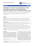 """Báo cáo hóa học: """"Evaluation of six CTLA-4 polymorphisms in highrisk melanoma patients receiving adjuvant interferon therapy in the He13A/98 multicenter trial"""""""
