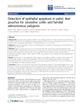 """Báo cáo hóa học: """" Detection of epithelial apoptosis in pelvic ileal pouches for ulcerative colitis and familial adenomatous polyposis"""""""