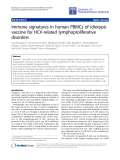 """Báo cáo hóa học: """"Immune signatures in human PBMCs of idiotypic vaccine for HCV-related lymphoproliferative disorders"""""""