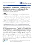 "Báo cáo hóa học: "" Papillomavirus pseudovirions packaged with the L2 gene induce cross-neutralizing antibodies"""