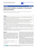 "Báo cáo hóa học: "" Abdominal irradiation modulates 5-Fluorouracil pharmacokinetics"""