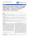 "Báo cáo hóa học: ""  ""Hypoxia-induced down-regulation of microRNA449a/b impairs control over targeted SERPINE1 (PAI-1) mRNA - a mechanism involved in SERPINE1 (PAI-1) overexpression"""
