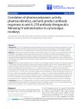 "Báo cáo hóa học: ""  Correlation of pharmacodynamic activity, pharmacokinetics, and anti-product antibody responses to anti-IL-21R antibody therapeutics following IV administration to cynomolgus monkeys'"