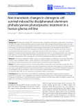 "Báo cáo hóa học: "" Non-monotonic changes in clonogenic cell survival induced by disulphonated aluminum phthalocyanine photodynamic treatment in a human glioma cell line"""