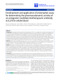 """Báo cáo hóa học: """" Development and application of a biomarker assay for determining the pharmacodynamic activity of an antagonist candidate biotherapeutic antibody to IL21R in whole blood"""""""