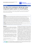 """Báo cáo hóa học: """"  The effect of an autologous cellular gel-matrix integrated implant system on wound healing"""""""