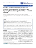 """Báo cáo hóa học: """" Functional polymorphisms in genes of the Angiotensin and Serotonin systems and risk of hypertrophic """""""