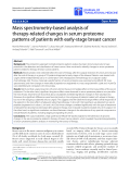 """Báo cáo hóa học: """" Mass spectrometry-based analysis of therapy-related changes in serum proteome patterns of patients with early-stage breast cancer"""""""