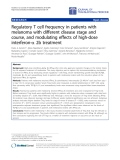 """Báo cáo hóa học: """"Regulatory T cell frequency in patients with melanoma with different disease stage and course, and modulating effects of high-dose interferon-a 2b treatment"""""""