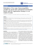 "Báo cáo hóa học: "" Modulation of the major histocompatibility complex by neural stem cell-derived neurotrophic factors used for regenerative therapy in a rat model of stroke"""