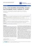 "Báo cáo hóa học: "" S110, a novel decitabine dinucleotide, increases fetal hemoglobin levels in baboons (P. anubis)"""