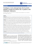 """Báo cáo hóa học: """" Autologous tumor-derived heat-shock protein peptide complex-96 (HSPPC-96) in patients with metastatic melanoma"""""""