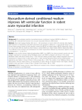 "Báo cáo hóa học: "" Myocardium-derived conditioned medium improves left ventricular function in rodent acute myocardial infarction"""