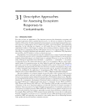 ECOTOXICOLOGY: A Comprehensive Treatment - Chapter 31