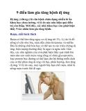 9 điều làm gia tăng bệnh dị ứng