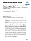 "báo cáo sinh học:""  The contribution of international health volunteers to the health workforce in sub-Saharan Africa"""