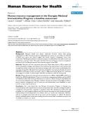 "báo cáo sinh học:"" Human resource management in the Georgian National Immunization Program: a baseline assessment"""