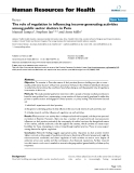 """báo cáo sinh học:"""" The role of regulation in influencing income-generating activities among public sector doctors in Peru"""""""