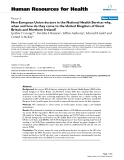 """báo cáo sinh học:"""" Non-European Union doctors in the National Health Service: why, when and how do they come to the United Kingdom of Great Britain and Northern Ireland?"""""""