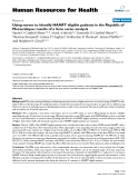 """báo cáo sinh học:""""  Using nurses to identify HAART eligible patients in the Republic of Mozambique: results of a time series analysis"""""""