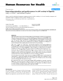 """báo cáo sinh học:"""" Improving retention and performance in civil society in Uganda"""""""