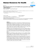 """báo cáo sinh học:"""" Assessing the impact of a new health sector pay system upon NHS staff in England"""""""
