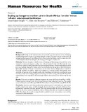 """báo cáo sinh học:""""  Scaling up kangaroo mother care in South Africa: 'on-site' versus 'off-site' educational facilitation"""""""