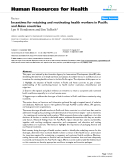 """báo cáo sinh học:""""  Incentives for retaining and motivating health workers in Pacific and Asian countries"""""""
