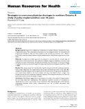 """báo cáo sinh học:""""Strategies to overcome physician shortages in northern Ontario: A study of policy implementation over 35 years Raymond W Pong"""""""