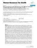 """báo cáo sinh học:"""" Empowering the people: Development of an HIV peer education model for low literacy rural communities in India"""""""