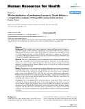 "báo cáo sinh học:"" Work satisfaction of professional nurses in South Africa: a comparative analysis of the public and private sectors Rubin Pillay"""
