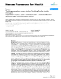 "báo cáo sinh học:""  Training evaluation: a case study of training Iranian health managers"""