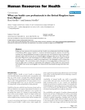 """báo cáo sinh học:""""  What can health care professionals in the United Kingdom learn from Malawi?"""""""