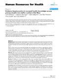 """báo cáo sinh học:""""  Evidence-based practice in neonatal health: knowledge among primary health care staff in northern Viet Nam"""""""