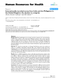 """báo cáo sinh học:"""" Internationally recruited nurses from India and the Philippines in the United Kingdom: the decision to emigrate"""""""