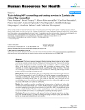 """báo cáo sinh học:""""  Task-shifting HIV counselling and testing services in Zambia: the role of lay counsellors"""""""