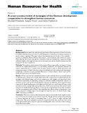 """báo cáo sinh học:"""" A cross-country review of strategies of the German development cooperation to strengthen human resources"""""""