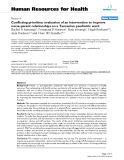 """báo cáo sinh học:"""" Conflicting priorities: evaluation of an intervention to improve nurse-parent relationships on a Tanzanian paediatric ward"""""""