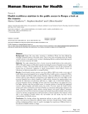"""báo cáo sinh học:"""" Health workforce attrition in the public sector in Kenya: a look at the reasons"""""""