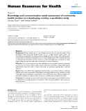 """báo cáo sinh học:""""  Knowledge and communication needs assessment of community health workers in a developing country: a qualitative study"""""""