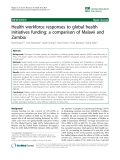 "báo cáo sinh học:""  Health workforce responses to global health initiatives funding: a comparison of Malawi and Zambia"""