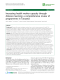 "báo cáo sinh học:""  Increasing health worker capacity through distance learning: a comprehensive review of programmes in Tanzania"""