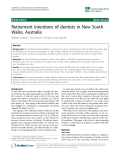 """báo cáo sinh học:""""  Retirement intentions of dentists in New South Wales, Australia"""""""