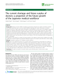 """báo cáo sinh học:""""  The current shortage and future surplus of doctors: a projection of the future growth of the Japanese medical workforce"""""""