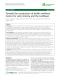"""báo cáo sinh học:"""" Towards the construction of health workforce metrics for Latin America and the Caribbean"""""""