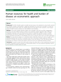 """báo cáo sinh học:""""  Human resources for health and burden of disease: an econometric approach"""""""