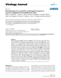 """Báo cáo sinh học: """"  Development of a model for marburgvirus based on severe-combined immunodeficiency mice"""""""